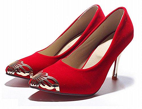 MissSaSa Donna Sottile col Tacco Alto Elegante e Bella Rosso