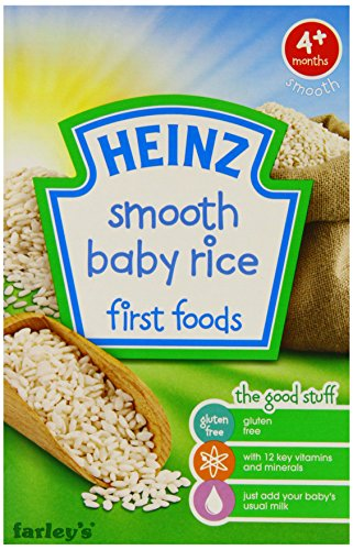 Heinz Smooth Baby Rice First Foods 4 Months Plus 100 g (Pack of 6) (Baby-spielzeug Sechs-monats-plus)