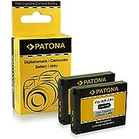 2x Batteria NP-FR1 per Sony Cybershot DSC-F88 | DSC-P100 | DSC-P120 | DSC-P150 | DSC-P200 | DSC-T30 | DSC-T50 | DSC-V3
