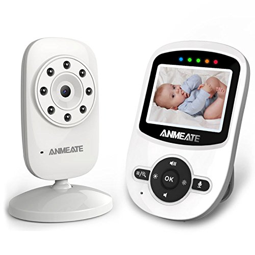 Video baby monitor with camera, night vision, room temperature monitor and lullabies.