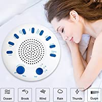 Weißes Rauschen Maschine White Noise Maschine mit 9 natürliche beruhigende Klänge, einstellbare Lautstärke Einschlafhilfe... preisvergleich bei billige-tabletten.eu