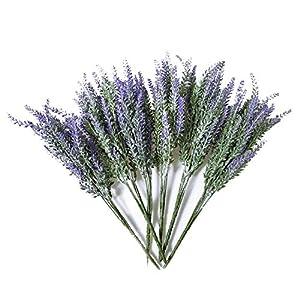 SODIAL 6X Paquetes De Lavanda Artificial Bouquet Lavanda Falsa Manojo De Lavanda Purpura Flores De Plantas Artificiales…