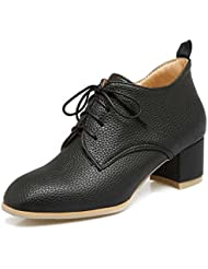 Pompe 4.5cm Chunkly Heel Court Chaussures Roma Chaussures Femmes Ronde Toe Shoelace Cuir Bottes Chaussures Casual Chaussures Chelsea Boot 2017 Auturm Winter New Eu Taille 34-44