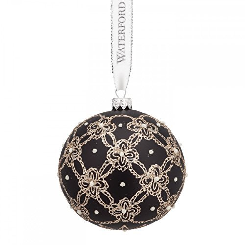Waterford Pearls and Lace Ball Ornament by Waterford -