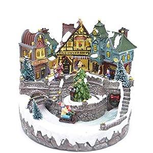 Gifts 4 All Occasions Limited SHATCHI-841 - Juego de decoración navideña para el hogar con luces LED