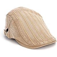 Herren Cap flach PURE COLOR Streifen Cap Schirmmütze Baskenmütze Chic Cabbie Herren Hat