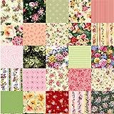 Tela de PATCHWORK juego de cuartos de grasa 100% algodón 50 cm * 50 cm, Garden Flowers, 50cm * 50cm