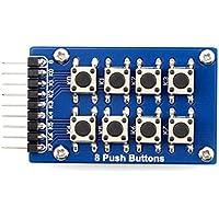 8 Botones pulsadores 4x2 Matriz 2x4 teclado Tecla única Junta módulo de accesorios (2x4 dispuestos como en una tabla) Regard