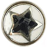 Noosa Chunk Pentagram black/white/silver -powderstone/metal