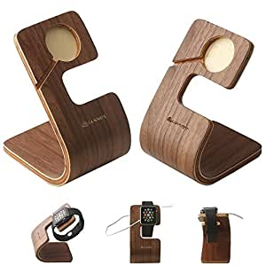 Apple Watch Stand, LUVVITT® Arc iWatch Wood Charging Stand Bracket Docking Station Stock Cradle Holder for Both 38mm and 42mm (LUV-1032)