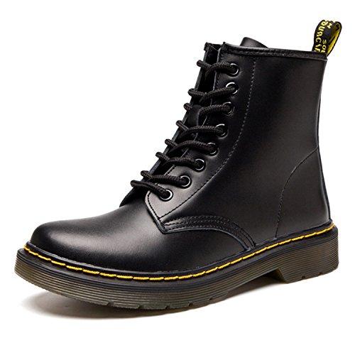 7915382dd Botas de Mujer Cuero Impermeables Botines Hombre Invierno Zapatos Nieve  Piel Forradas Calientes Planas Combate Militares