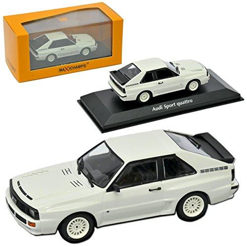 A-U-D-I Sport Quattro Coupe Weiss 1984-1985 1/43 Minichamps Maxichamps Modell Auto mit individiuellem Wunschkennzeichen
