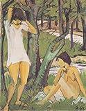 Das Museum Outlet?Otto Müller?Zwei badende Madchen (Madchen im Hemd)?ca1921, gespannte Leinwand Galerie verpackt. 96,5x 121,9cm