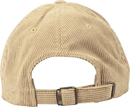 Flexfit Low Profile Corduroy Dad Cap Unisex Kappe für Damen und Herren khaki