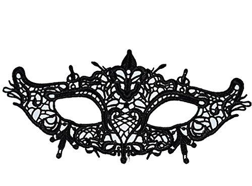 ShallGood Masquerade Schwarz Spitze Weinlese Retro Elegant Maske Damen Sexy Augenmaske Für Halloween Karneval Party Kostüm Ball Zusätze #3 One (Hippie Halloween Kostüme Diy)