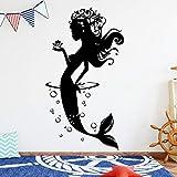 yaoxingfu Creativa Sirena Etiqueta de la Pared Tatuajes de Pared decoración para el hogar para Habitaciones de bebés de Fondo Arte de la Pared calcomanía Mural Accesorios Rojo56 cm X 105 cm