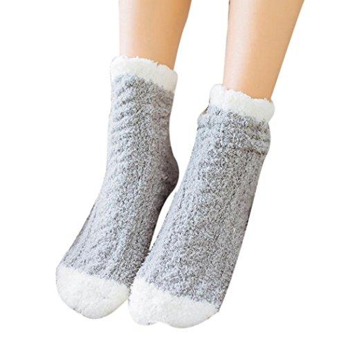 Hansee Weihnachten Frauen & Männer Nette Korallen Fleece Warme Socken Herbst Winter Casual Boden Socken (I) (No Show Kinder Sock 3pk)