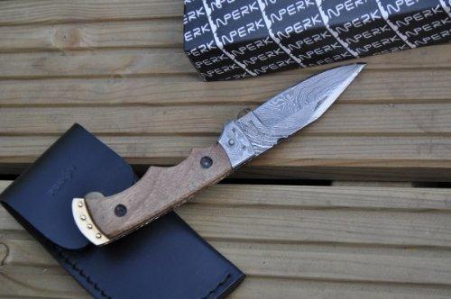 51F0DTsC3FL - Perkin Handmade Damascus Folding Knife - Legal to Carry