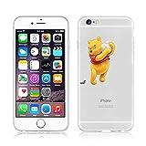 Neuf Disney Princesse transparente TPU Soft iPhone cases pour Apple iPhone 5/5S, 5C et 6/6S, Winnie with Apple, iPhone 5C