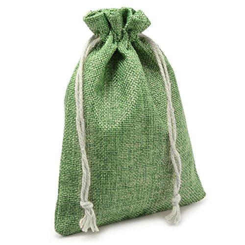 24er Set Jutesäckchen für Adventskalender zum selbst befüllen, 18,5cm x 14,5cm, Jutebeutel, Stoffbeutel, Natur Säckchen, Geschenksäckchen, Sack, Beutel – Marke Ganzoo (grün)