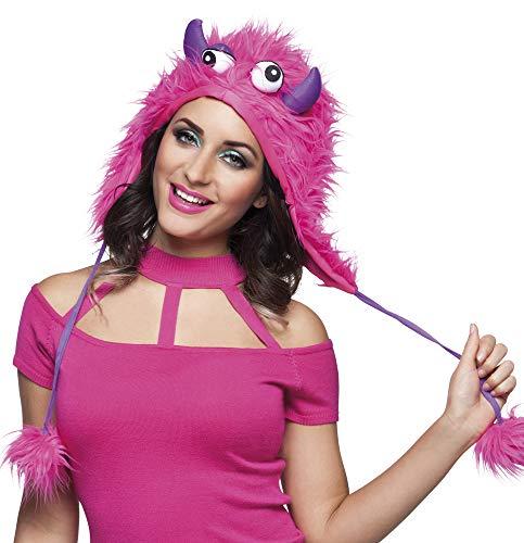 B81029 pink Kinder Damen Herren Sweet Monster Hut-Mütze (Schnappi Kostüm)