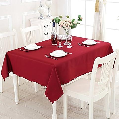 Yifom Solido spesso Ristorante sala da pranzo la tovaglia per un picnic banchetto di nozze tovaglia rettangolare,vino rosso,150*210cm
