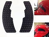 Quattroerre 18093 Adesivo Protezione Serbatoio Moto Racing Grip 2 Pezzi, Nero