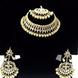 #7: Necklace artificial fancy jewellery necklace with matching earrings wedding & party wear kundan work set