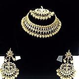 #5: Necklace artificial fancy jewellery necklace with matching earrings wedding & party wear kundan work set