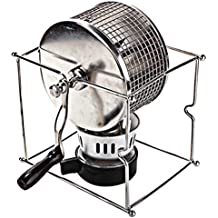 HUKOER Manual Roaster Coffee Roaster Hand Use Tostador de café con Quemador 300G Coffee Bean Capacity