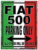 The Original Metal Signs Blechschild FIAT 500 Parking - FA0528