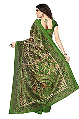 Mrinalika Fashion Art Silk Saree with Blouse Piece