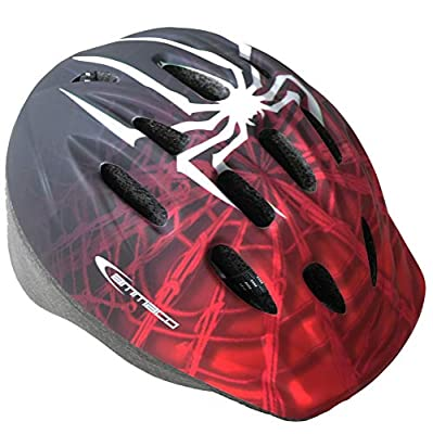 Ammaco. Spider Spiderman Style Graphics Bike Bicycle Skate Scooter Youth Kids Boys Girls Childs Helmet Red Black White 52-56cm by Ammaco.