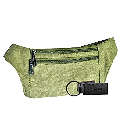 Charmoni - Sac banane plate pochette sacoche à ceinture et sa porte clé cuir