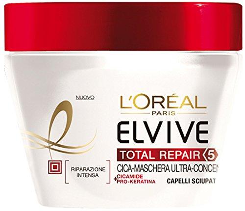 L'Oréal Paris Elvive Total Repair 5 Maschera Ricostituente per Capelli Sciupati, 300 ml