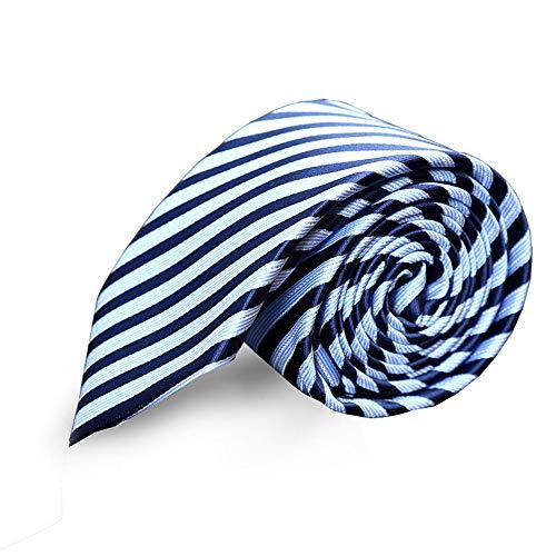 ZSRHH-Neckchiefs Halstücher Blauer Streifen-Jacquard-Mann-Anzug-Geschäfts-Krawatten der Männer, zum der Gruppen zu Arbeiten