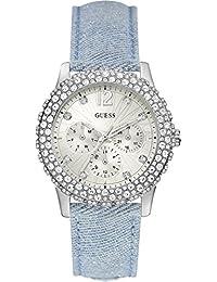 Guess Damen-Armbanduhr Analog Quarz Leder W0336L7