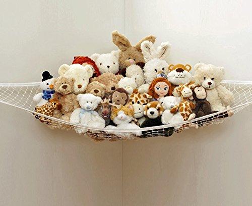 EQLEF® Toy Hammock Large Size bagagli Net Per Stuffed Animals, eccellente per Nursery bagagli, Giocattoli Giochi Organizzazione e Organizer Hanging (bianco)