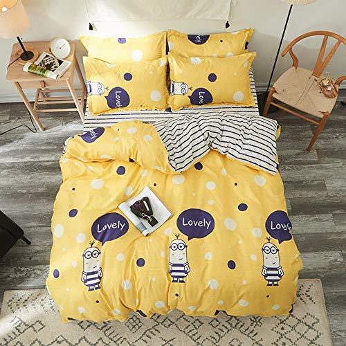 Kostüm Pferd Personen 2 - YATING Vierteiliges Set 1,5m1,8m Bettwäsche Bettbezug Einzelbett auf DREI Sets Kleiner gelber Personen 2,0m Vierteiliges Set