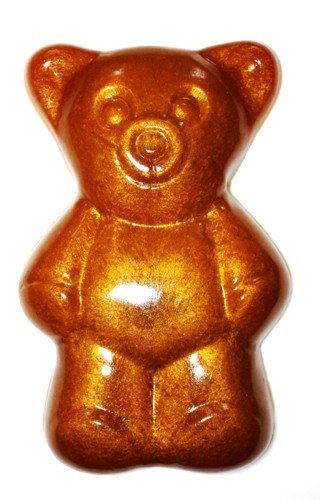 Preisvergleich Produktbild Gummibär extra Groß 28cm 2 kg Fruchtgummi Farbe GOLD metallic