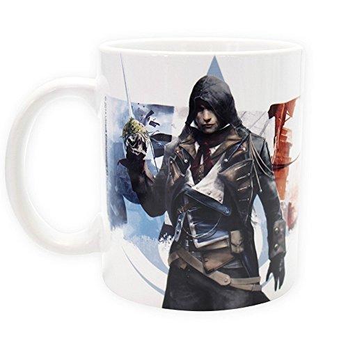(Assassins Creed - Keramik Tasse 320ml - Unity - Arno - toll und stabil verpackt in einer Geschenkbox!)