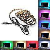 XCSOURCE® 2m TV Hintergrundbeleuchtung LED Streifen mit Fernbedienung, Farben ändernde helle Einstellbare USB Powered LED Band LD957