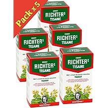 Richters TRANSIT - 5 cajas de té de hierbas de Ernst Richter de 20 sobres - tratamiento de 3 Meses
