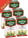 Lot de 5 boîtes de Tisane infusion Ernst Richter 40g - 100% à base de plantes naturelles / Régulation du transit / Spécial Minceur / 5 x 20 sachets filtres de 2g