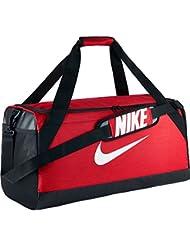 Nike Nk Brsla M Duff Bolsa de Deporte, Hombre, Rojo (University Red/