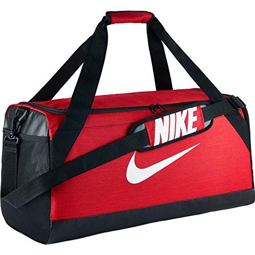 Nike Brsla M Duff, Borsa da Viaggio Uomo, Nero/Bianco, Taglia Unica