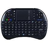 Mini Teclado Retroiluminado, Esynic 2.4GHz Teclado Inalámbrico con Ratón Touchpad y Recargable Batería Incorporada para Google Android Smart TV Box, XBMC, Windows, Ordenador Portátil y Raspberry Pi PS3