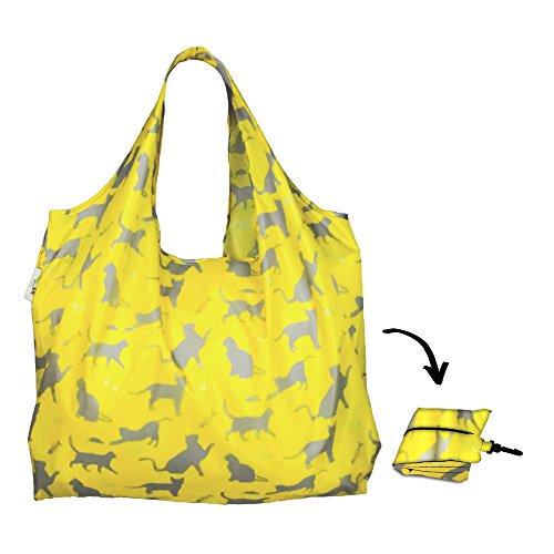re-uz-lifestyle-xl-shopper-happy-cats-sage-eco-friendly-reusable-foldable-shopping-grocery-bag