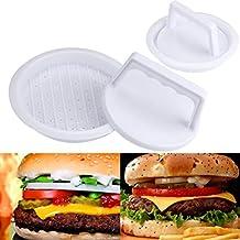 LiPing Burger Maker Press - Molde para hacer hamburguesas (redondo, para carne, pico