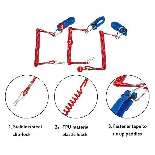 Gazechimp 3 Stk. SUP Paddle Leash / Kajak Kanu Boot Paddel Leash Stand Up Paddle Leine mit Fußschlaufe